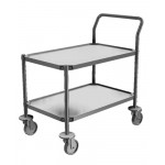 Electropolished Stainless Steel Trolley / Utility Cart - 2 Shelves