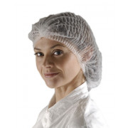 Mob Cap / Bouffant Hat - White - Pack of 100 - Case of 10