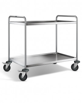 Stainless Steel 2 Tier Transport Trolley - 1100x700x1000mm