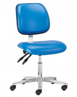 Vinyl Low Cleanroom Chair with Footring