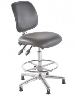 ESD Vinyl High Chair with Footring