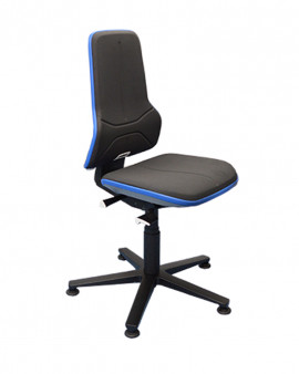 Bimos Neon 1 Chair on Glides - Black with Blue Flexstrip