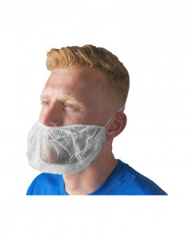 Beard Snood - White - Case of 1000