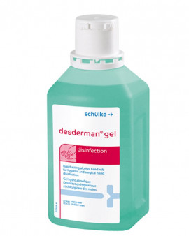 Desderman Pure Alcohol Hand Gel - 500ml - Case of 20