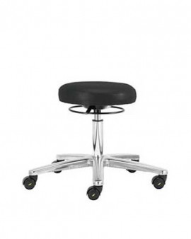 ESD PU Low Cleanroom Stool - Black