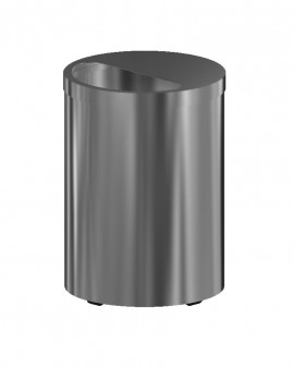 Electropolished S/S Large Waste Receptacle - on Castors