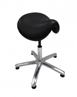ESD Vinyl Cleanroom Saddle Stool - Black