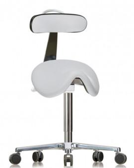 GMP Saddle Seat with Backrest on Castors