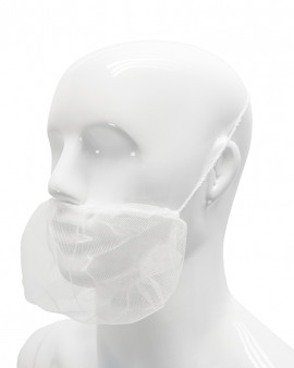 Beard Snood - White - Pack of 100 - Case of 10