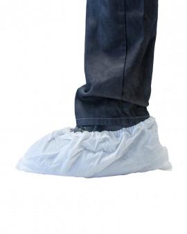 Non slip CPE Overshoe white
