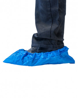 Non slip Antistatic CPE Overshoe  13 gsm Blue
