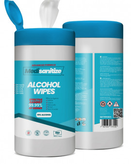 Medisanitize 70% Alcohol Wipes 6 x 150 wipes
