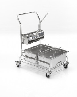 PurQuip® Type Duo Cleanroom Mop Trolley with Press