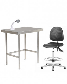 Cleanroom Table, Chair, LED Lamp Combi Offer