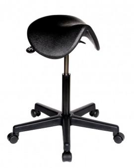 PU Saddle Seat Stool - Black