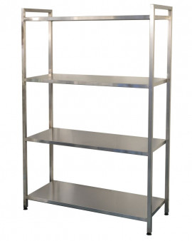 Stainless Steel Racking - Freestanding Solid Shelving