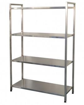 Stainless Steel Racking - Freestanding Solid Shelving