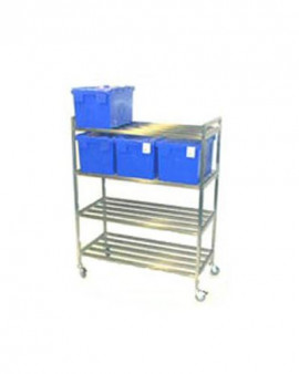 Stainless Steel Racking - Freestanding Slatted Shelving
