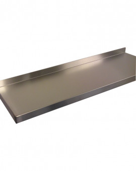 Stainless Steel Wall Mounted Shelving  - 300mm Deep