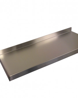 Stainless Steel Wall Mounted Shelving  - 400mm Deep
