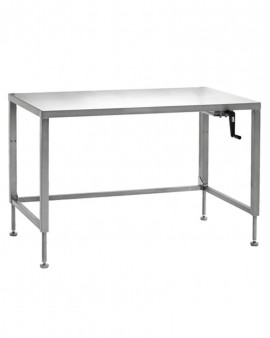 Stainless Steel Hydraulic Height Adjustable Ergo Table