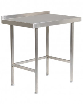 Stainless Steel Table with Upstand (No Under Shelf)