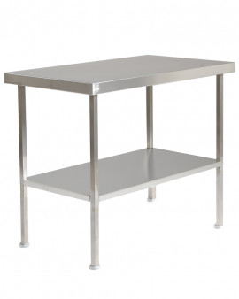Stainless Steel Table with Under Shelf (No Upstand)