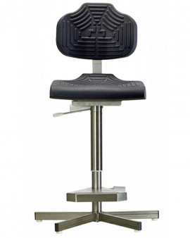 Stainless Steel PU High Chair on Glides