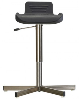 Stainless Steel High Stool on Glides
