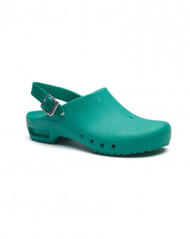 SteriKlog™ Toffeln Clean Clog Green - With Heelstrap