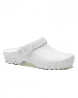 SteriKlog™ Toffeln Clean Clog White - With Heelstrap