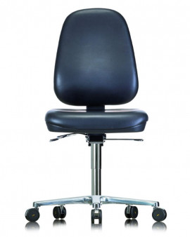 Cleanroom ESD Vinyl Low Chair on Glides