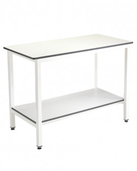 Trespa Table with Undershelf (No Upstand).