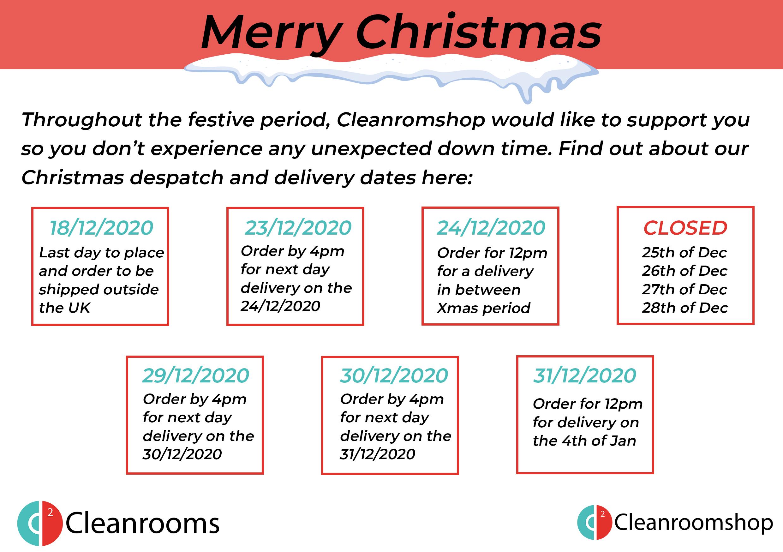 Cleanroomshop Christmas Ordering