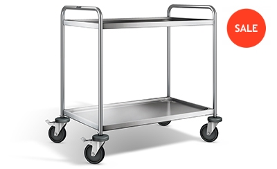 Stainless steel transport trolley