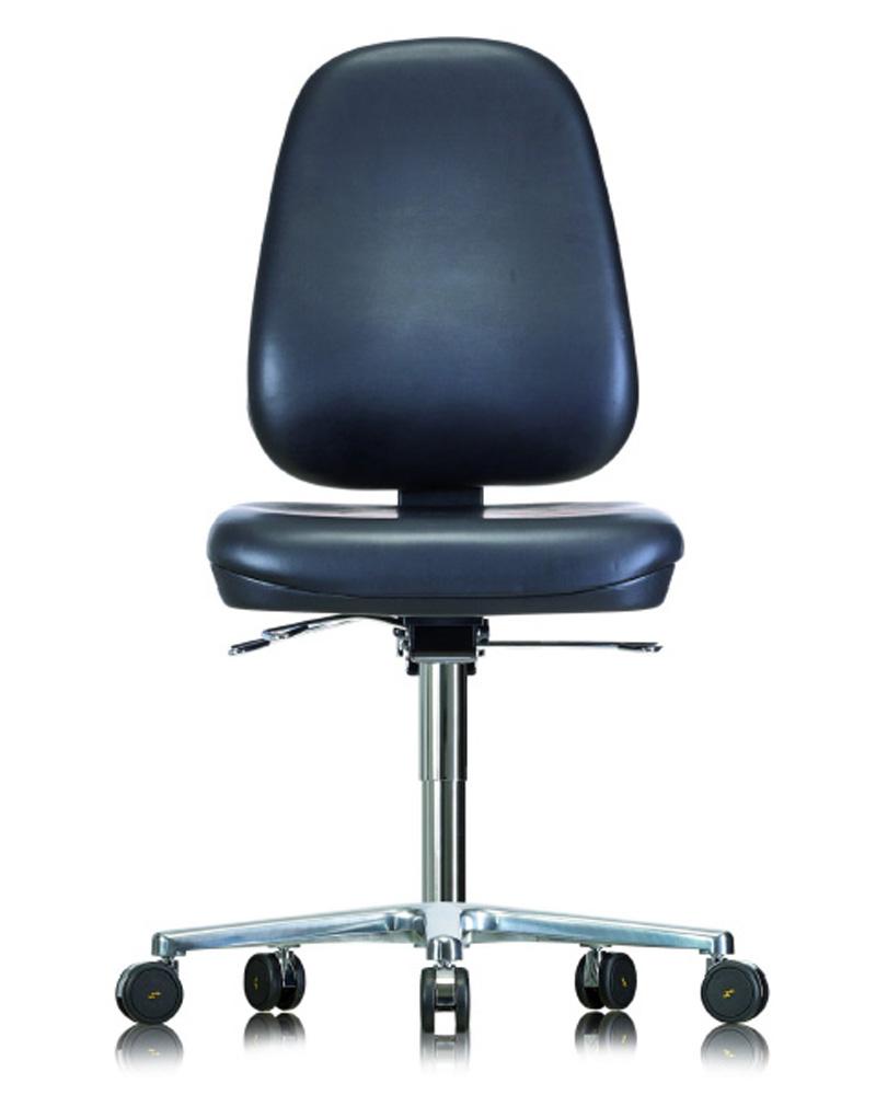 Cleanroom ESD Vinyl Low Chair on Castors