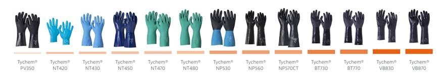 Tychem Chemical Protective Gloves
