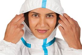Tyvek Hooded Coverall with Socks